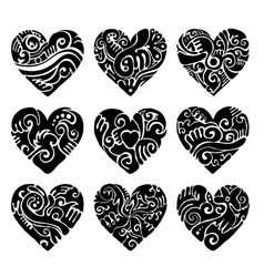 Tribal hearts vector