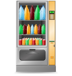 Vending water is a machine isolated on white backg vector