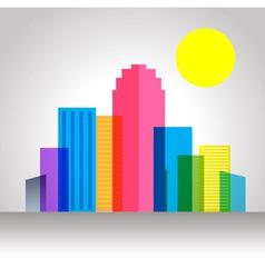 Urban city colorful vector