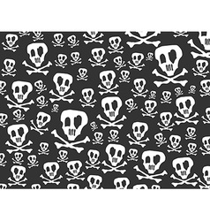 Seamless skulls and bones background vector