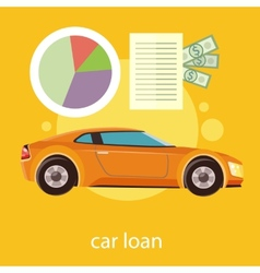 Car loan approved vector