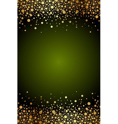 Green frame with gold confetti vector