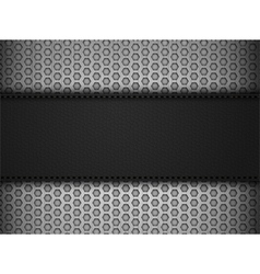 Black leather panel on black mesh landscape vector
