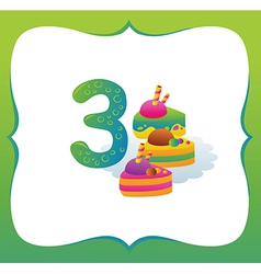 Collection sweet numbers for kids 3 vector