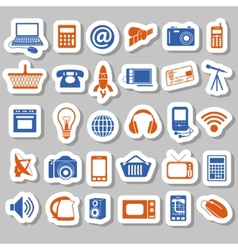 Modern technology stickers vector