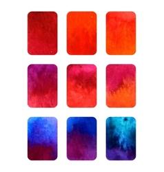 Set of gradient watercolor elements for vector