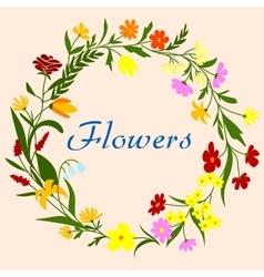 Floral wreath for seasonal design vector