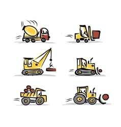 Set of construction equipment for your design vector