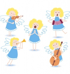 Musical angels vector