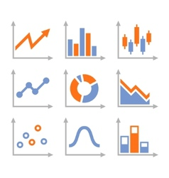 Simple set of diagram and graphs vector