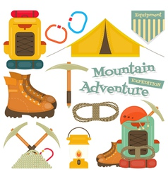 Mountains equipment isolated vector