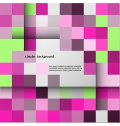 Simple background of colored squares and shadows vector