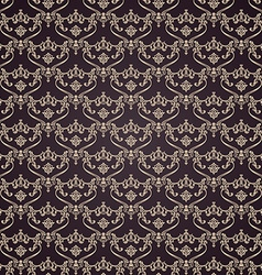 Seamless vintage background calligraphic pattern vector