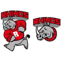 Rhino mascot vector