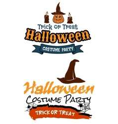 Halloween holiday party banners vector