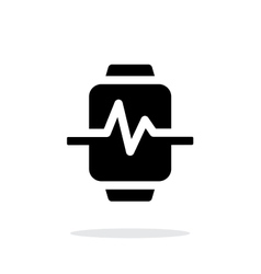Pulse on smart watch simple icon on white vector
