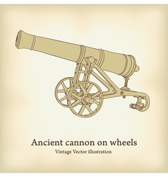Antique cannon vector