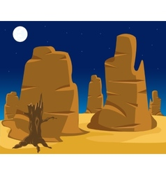 Landscape of wild west vector