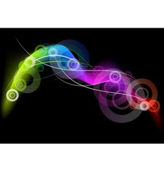 Rainbow curves on the dark background vector
