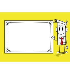 Square guy-banner vector