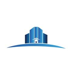 Buildings apartments logo vector