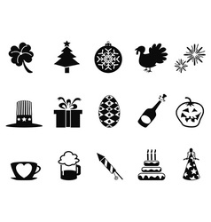 Holiday and event icons set vector
