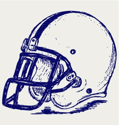 Helmet football vector