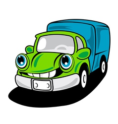 Cartoon delivery truck vector
