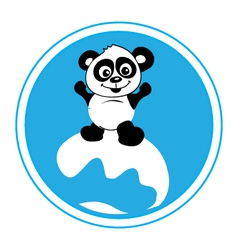 Panda-surf-pw vector