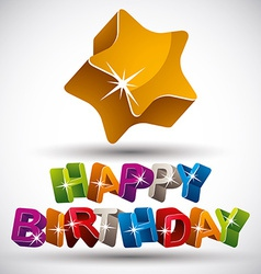 Happy birthday phrase vector