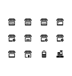 Shop icons on white background vector