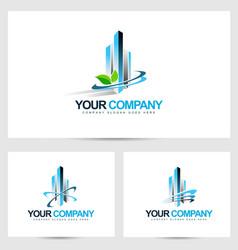 Corporate building logo vector