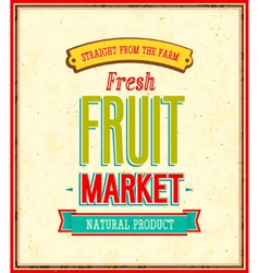 Fruit market design vector