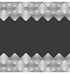 Brushed metal mosaics on texture background vector
