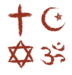 Painted religion signs vector