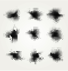 Collection of four ink splats vector