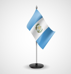 Table flag of guatemala vector