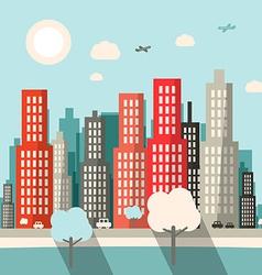 Flat design city vector