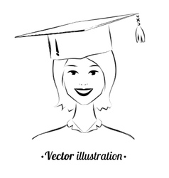 Smiling student vector