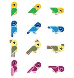 Birdy isolated vector