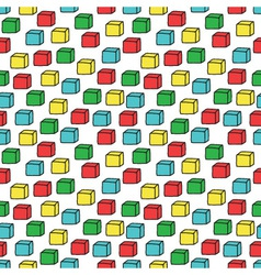 Seamless pattern with colored cubes vector