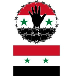 Violation of human rights in syria vector