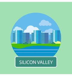 Office building in silicon valley vector