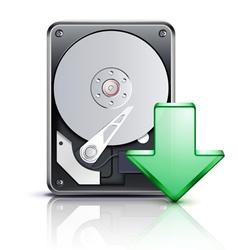 Computer download concept vector