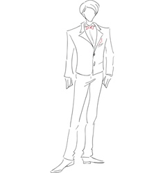 Groom sketch vector