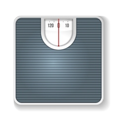 Weight scale on white background vector
