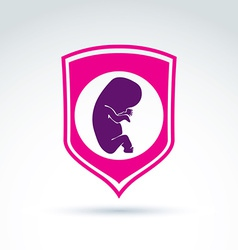 Pregnancy and abortion idea  save live theme vector