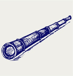 Antique spyglass vector