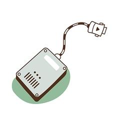 A hard drive vector