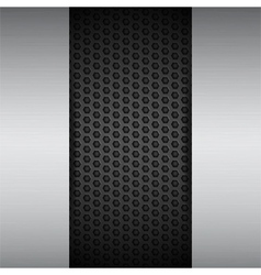 Brushed metal panels on black mesh vector